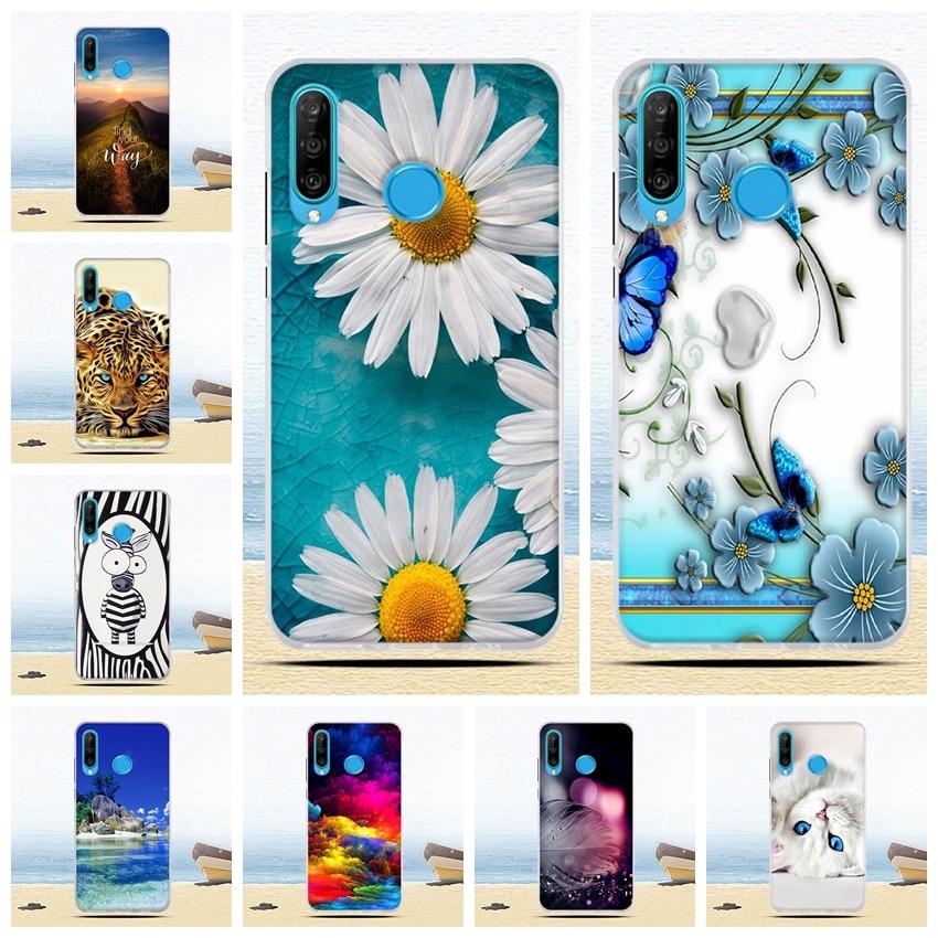 Funda de silicona suave para Huawei P30 Lite 6,2 pulgadas de silicona transparente de la cáscara de la caja del teléfono para Huawei P30lite cubre bolsas