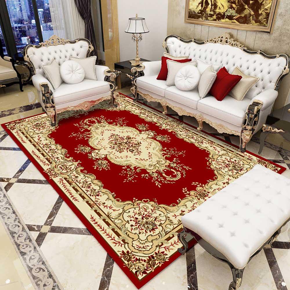 سجادة غرفة المعيشة الأوروبية الكلاسيكية ، مستطيل ، ديكور المنزل ، أريكة ، غرفة نوم