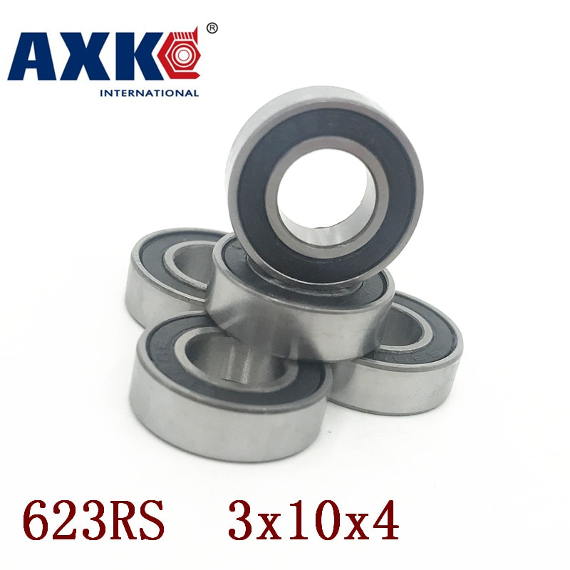 Axk 623rs rodamiento Abec-1 3x10x4 Mm (10 uds) miniatura 623-2rs rodamientos de bolas 623 Rs 2rs