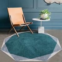 Unique diamond shaped geometric living room rug Nordic big size bedside carpet blue decoration office carpet ground mat