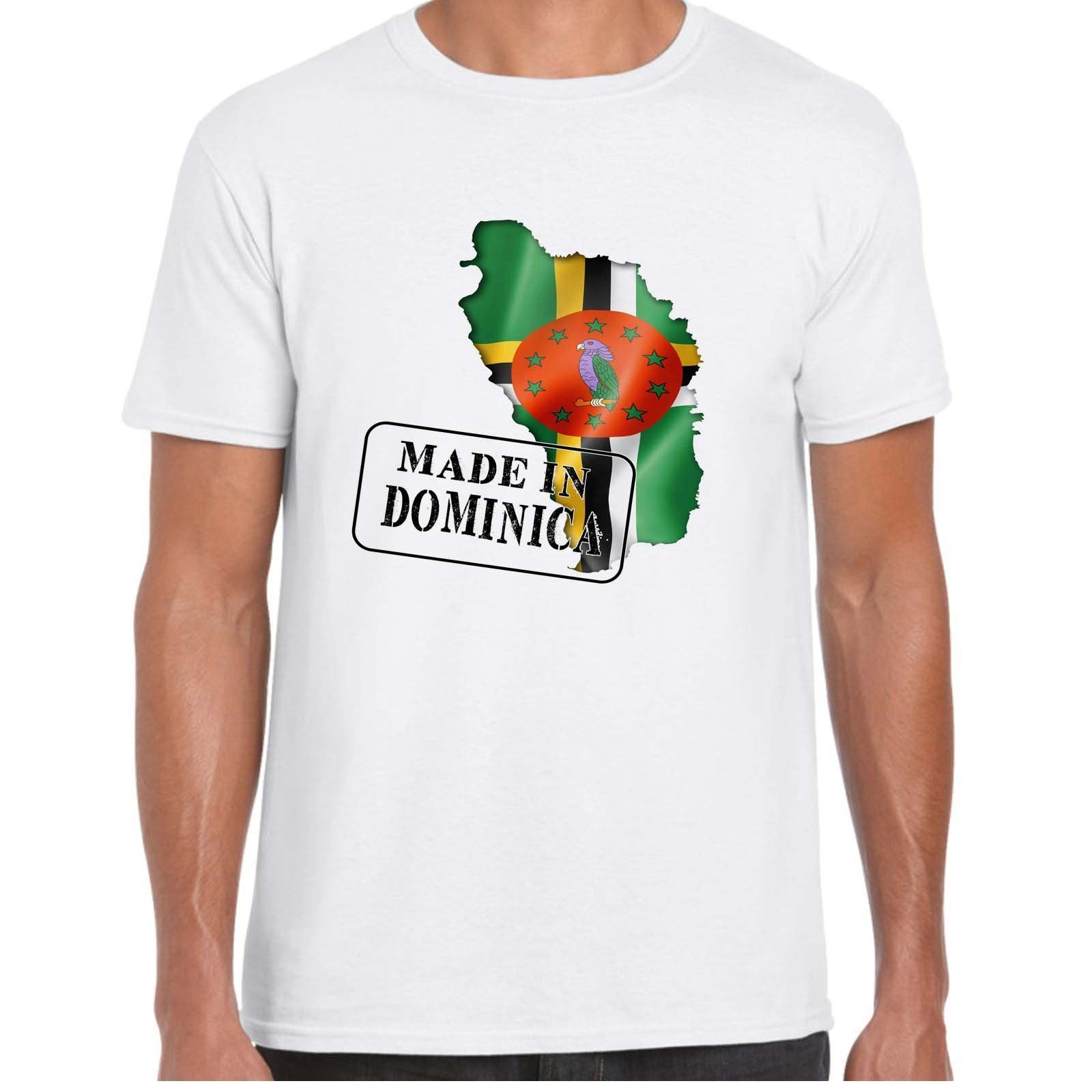 Fabrique en DOMINICA-Drapeau et Carta-Camiseta pour hommes harajuku Verano de 2018 camiseta