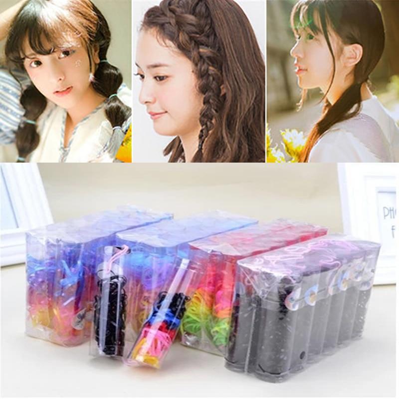 Accesorios para el cabello de goma colorida chica con banda para el pelo estilo de los niños coleta titular bandas elásticas para el cabello trenzas Mini cuerda para el cabello