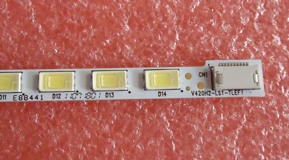 PARA Hisense LED42K16X3D E PARA TCL D42P6100D lâmpada Artigo V420H2-LS1-TLEF1 V420H2-LS1-TREF1 1 peça 56LED = 477 MILÍMETROS