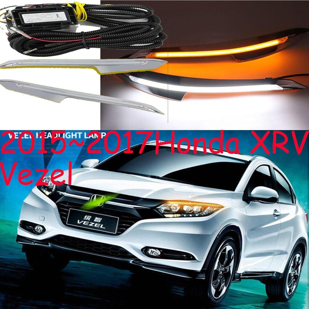 Lámpara de parachoques para Vezel DRL 2015 ~ 2017 Año HRV XRV XR-V luz diurna XR V accesorios para coche Vezel niebla luz