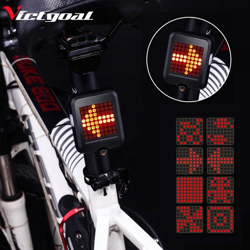 Victgoal bicicleta USB Luz linterna impermeable recargable para Advertencia de bicicleta en señal de LED de ciclismo bicicleta accesorios