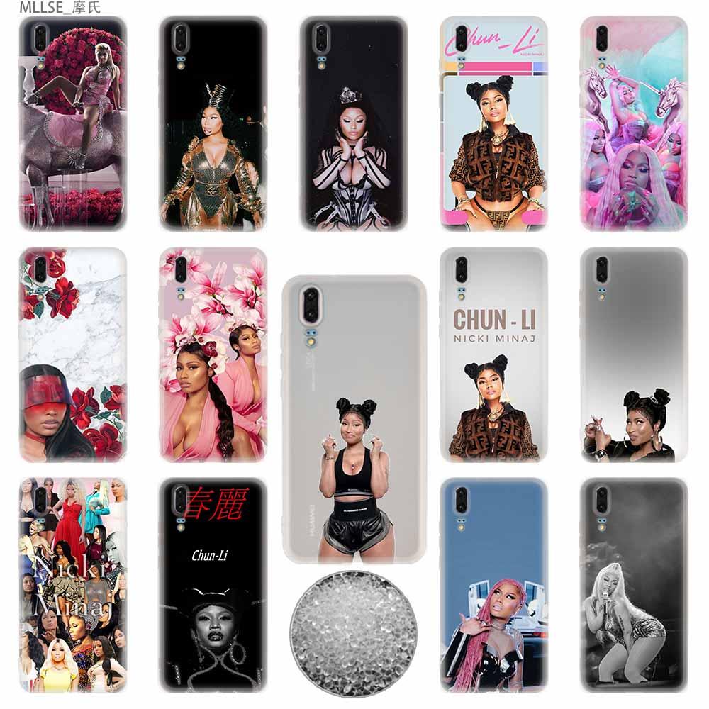 Nicki minaj tpu capa capinhas de telefone macio para huawei p40 p30 p20 pro p10 plus p9 lite p30lite p40lite p samrt z 2019 3e