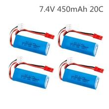 7.4V 450mAh 20C Lipo Battery for WLtoys K969 K979 K989 K999 P929 P939 RC Car Parts 2s 7.4v Battery