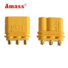 Connecteurs pour femmes et Amass MR30PB   5 couleurs/lot, prises de connecteurs pour hommes, batterie Lipo RC 20% de réduction