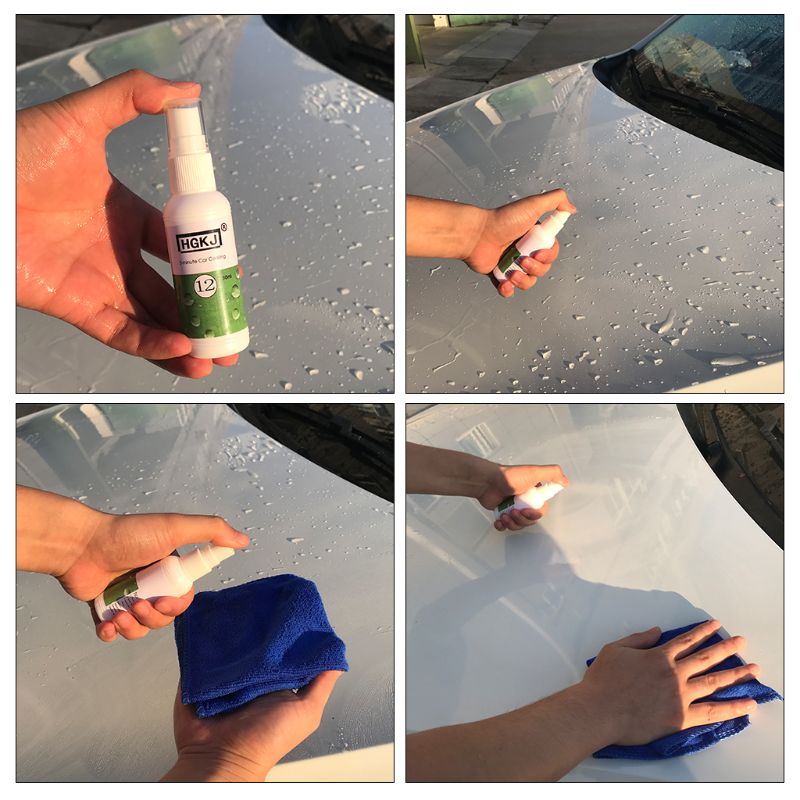 Hot  1 Pc HGKJ-12 Vehicle Car Polish Liquid Glass Crystal Ceramic Coating Anti-scratch Car Paint Care 20ml/50ml