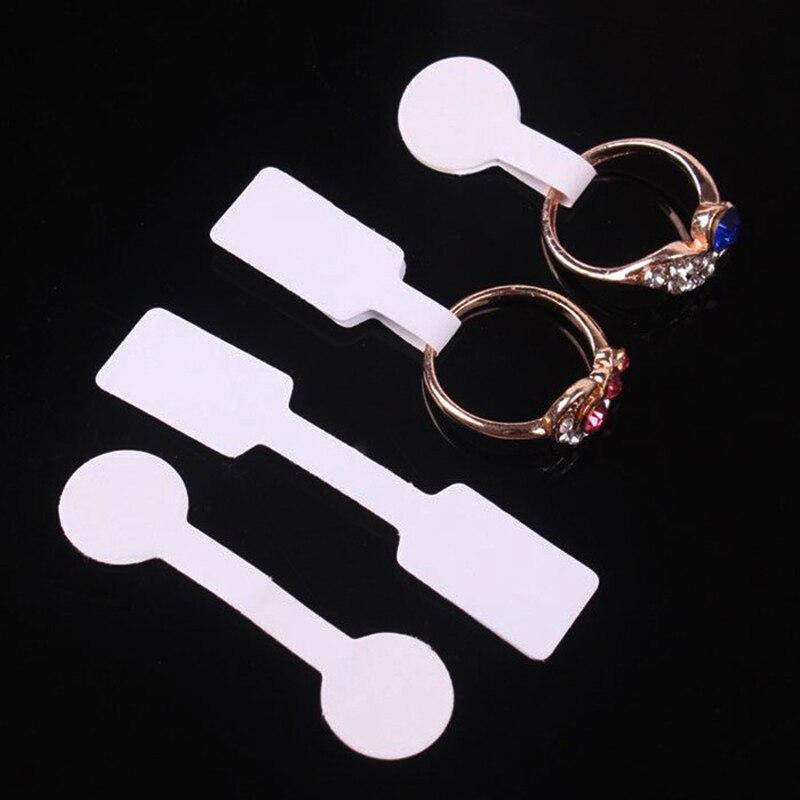 50 unids/lote ronda cuadrada etiqueta de papel para precio collar de joyería anillo precio etiquetas joyería mostrar Etiqueta de papel para precio s