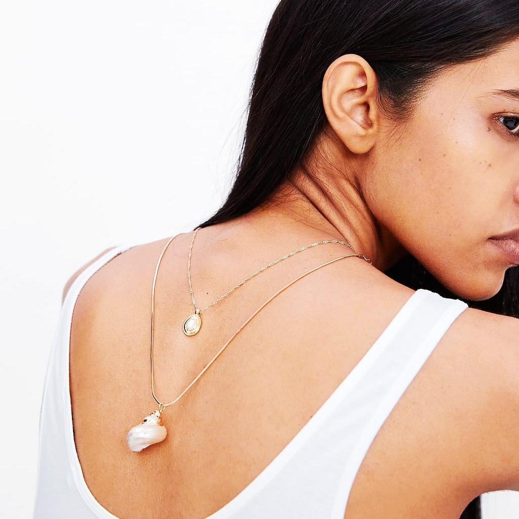 ¡Novedad de 2019! Collar de concha Natural a la moda para mujer, Collar de concha de mar moderno, Gargantilla, Collar de fiesta de verano, joyería