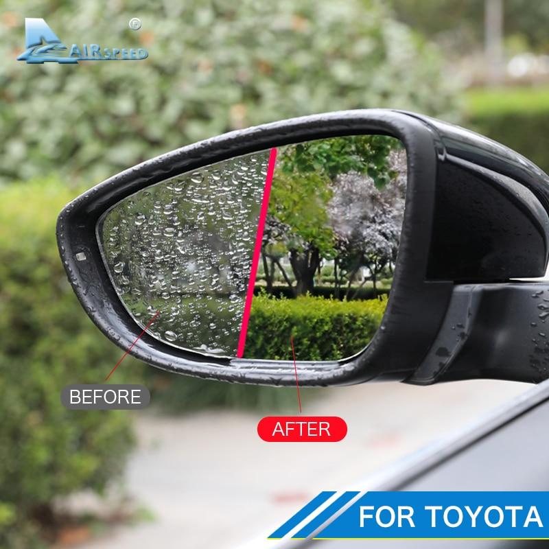Película de espejo retrovisor de coche Anti niebla luz para Toyota Corolla Camry crucero Levin Vios Prado Rava4 Alphard Highlander Lzoa Avalon