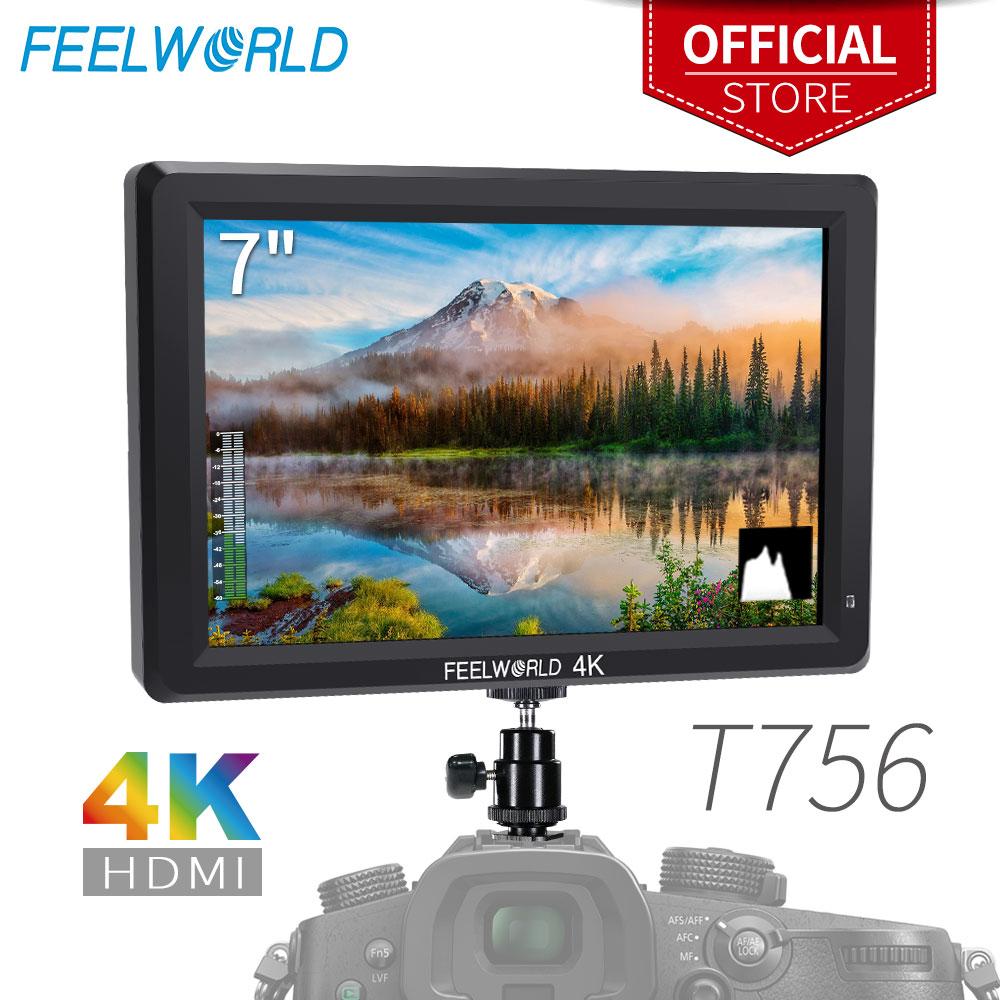 Feel world T756 شاشة 7 بوصة 1920x1200 IPS على شاشة حقل الكاميرا دعم 4K HDMI مدخل الإخراج ل DSLR كانون سوني نيكون ZHIYUN Gimbal