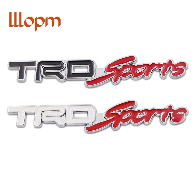 Auto Styling für TRD Arten Logo 3D Racing Metall Aufkleber auto Emblem Abzeichen Aufkleber Für Toyota RAV4 REIZ COROLLA Camry auto Zubehör