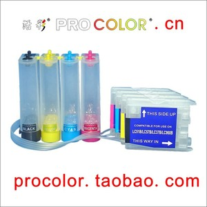 PROCOLOR LC10 CISS KIT for BROTHER MFC-630CD/CDW/MFC-480CN/MFC-460CN/DCP-750CN/ DCP-350C/DCP-330C/DCP-155C/MFC-650CD/CDW printer