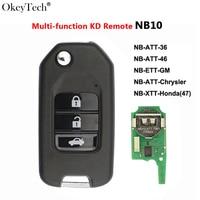 Okeytech for Honda NB10 Universal Multi-functional For KD900/KD900+/URG200 Mini Key Programmer NB Series Remote Key 3 Buttons