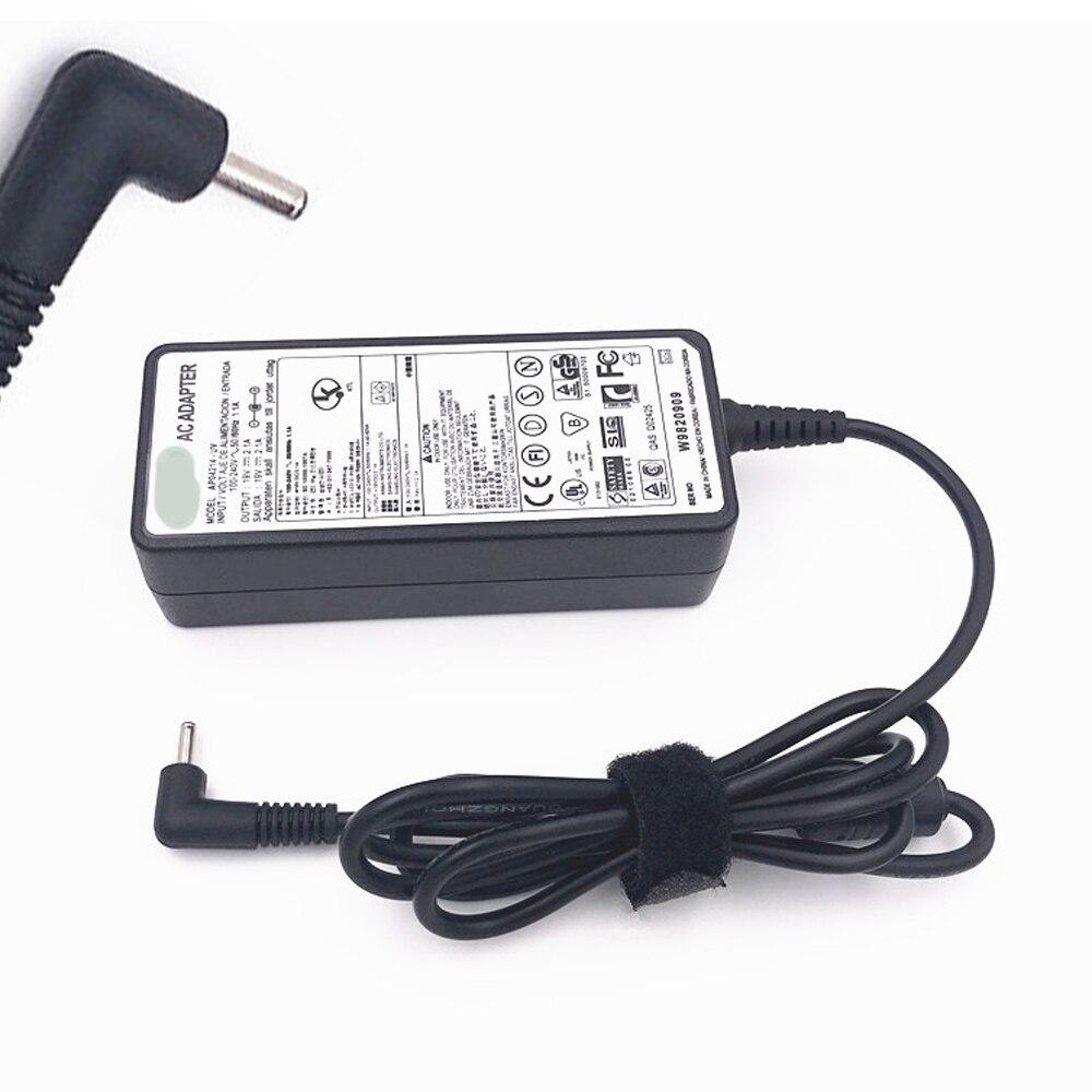 19 V 2.1A adaptador de CA del cargador de batería para Samsung serie 5 7 9 XE500C21 NP900X3A XE700T1A AD-4019P adaptador