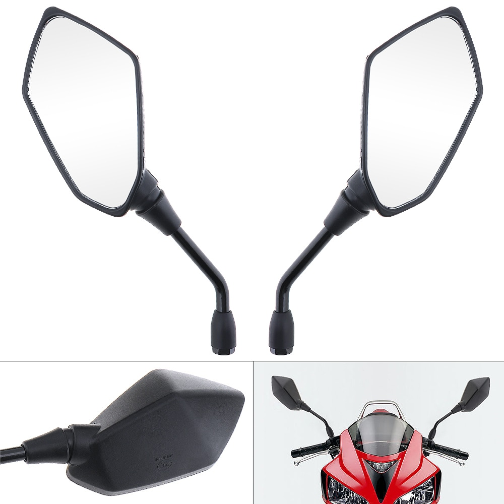 2 uds. Espejo Universal de diseño elegante para motocicleta, Espejos retrovisores para bicicleta eléctrica, espejo convexo lateral de 10mm