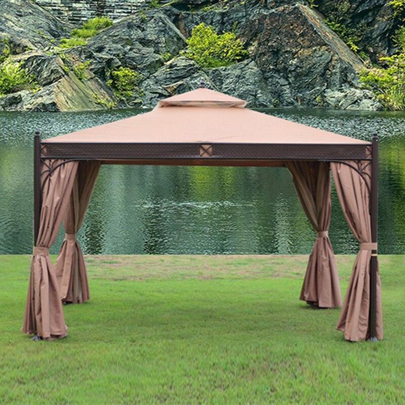3*3.6 מטר גבוהה באיכות לא חלודה עמיד חיצוני ביתן אוהל פאטיו צל גינת ביתן חופה גשם הגנת ריהוט בית
