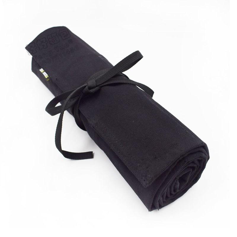 1PCS Wooden Carving Knife Tool Bag Canvas Drum Storage Bag 6/12/32 Grid Black