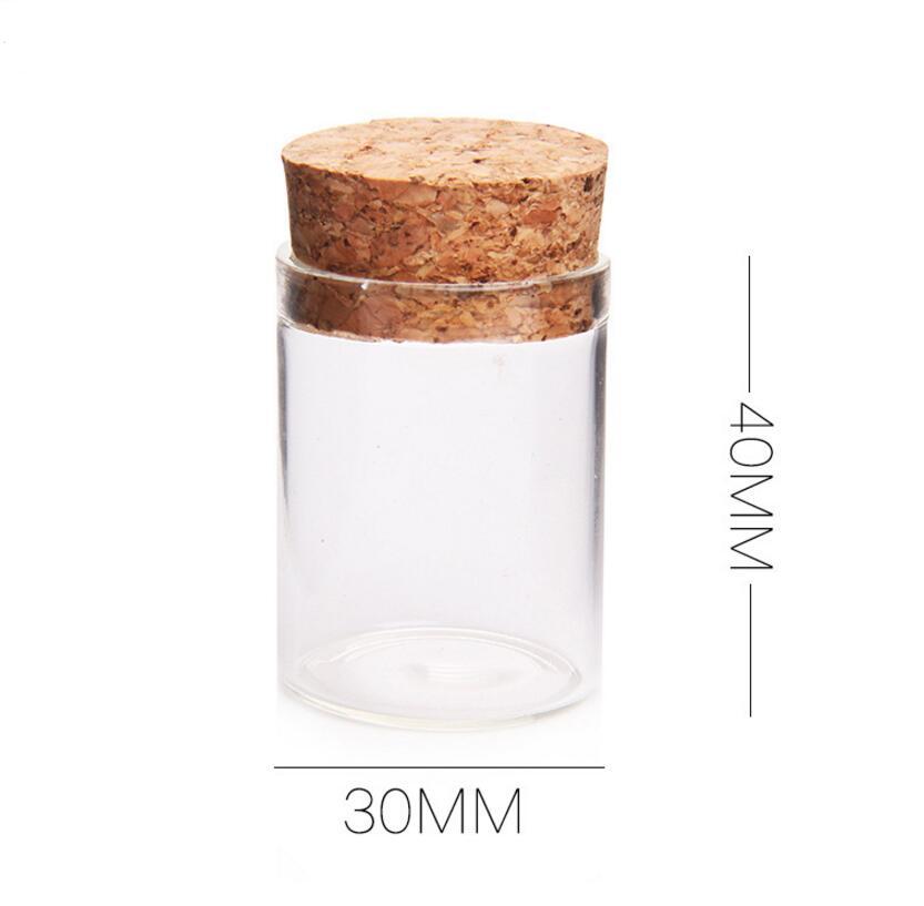 Venta al por mayor 1000 piunids/lote tubo de vidrio de 15 ml con corcho de madera, viales de muestra de vidrio de 1/2 oz Venta caliente