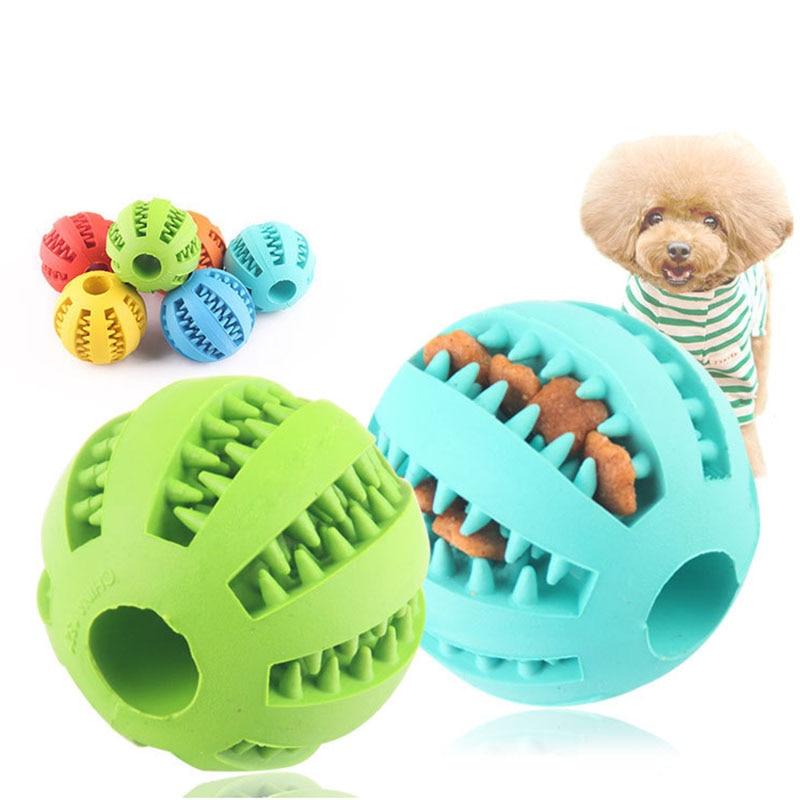 Pelota Dental para masticar para gatos y perros, juguete interactivo para mascotas, juguete de entrenamiento duradero sin BPA, juguete de limpieza Dental de goma Natural no tóxica
