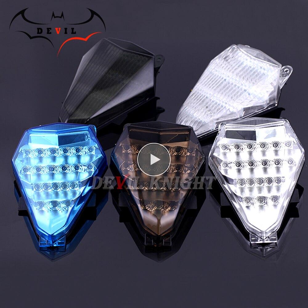 Luz de motocicleta para Yamaha YZF R6 YZF-R6 06 07 luz trasera LED modificada luz de freno de motocicleta con accesorios led de señal de giro