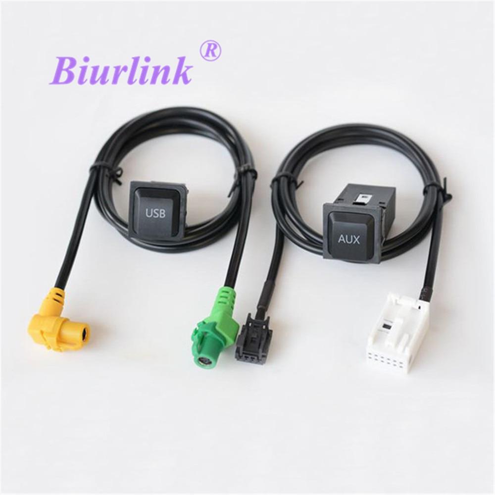 Автомобильный AUX USB адаптер Biurlink RCD510 RNS510 RNS315 RCD310 RCD300, переходник аудиокабеля для Volkswagen Passat CC Golf POLO