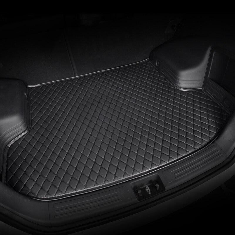 Kalaisike-tapis de coffre de voiture pour Volkswagen   Tous les modèles de polo golf 7, tiguan touran jetta CC coccinelle, revêtement de cargaison personnalisé