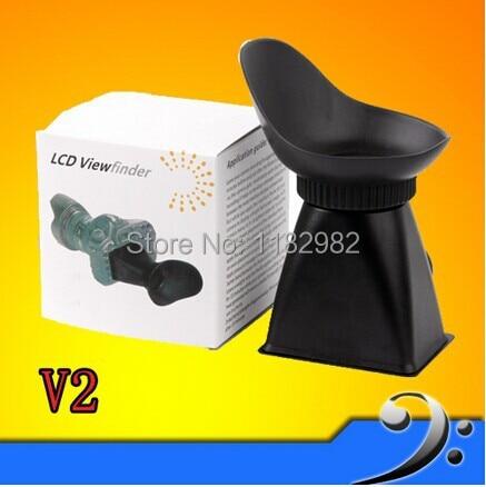 "Wolasale 2pcs 2.8X3"" 3:2 LCD Viewfinder Magnifier Eyecup V2 for 550D T2i 5D MARK III D90 and 2x 2.8X LCD viewfinder V2"