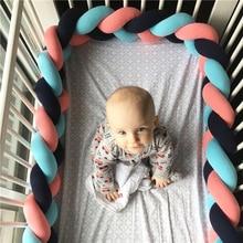 Longo Atada Trança Travesseiro Almofada Do Sofá Bebê Bumper Cama No Berço 1 2 3 4 Metro