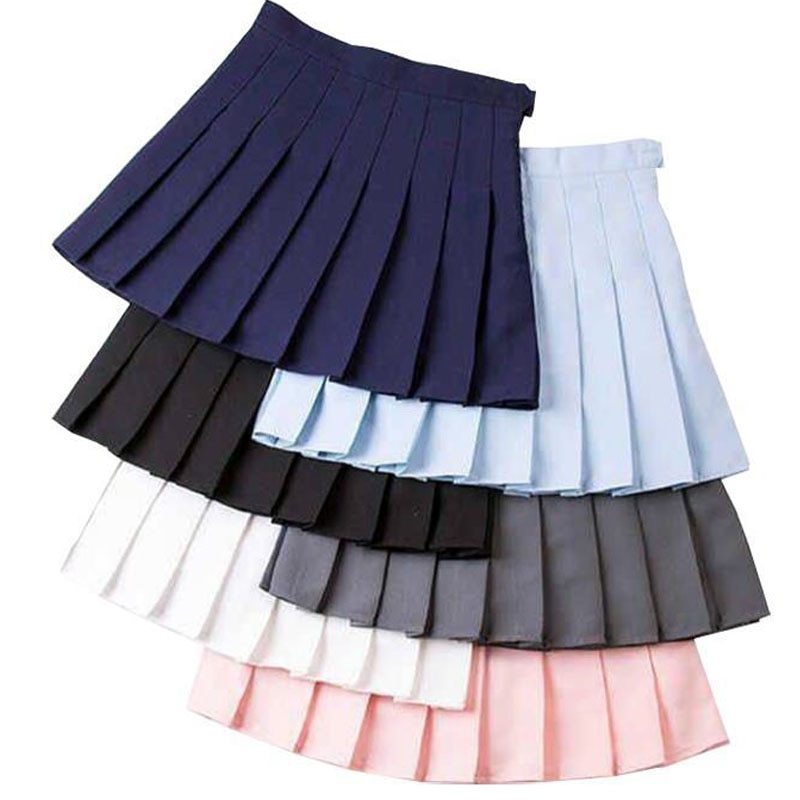 Girl Pleated Tennis Skirt High Waist Short Dress With Underpants Slim School Uniform Women Teen Chee