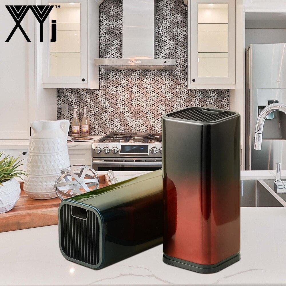 Cuchillo de estilo xyj, soporte para cuchillos de cocina, soporte para Cuchillo de cocina de acero inoxidable, bloque de soporte, accesorios de cocina