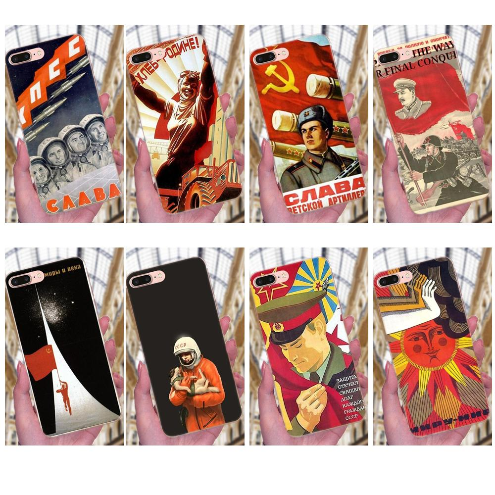 La Unión Soviética URSS para Samsung Galaxy Note 5 8 9 S3 S4 S5 S6 S7 S8 S9 S10 mini plus Lite TPU bien mejor