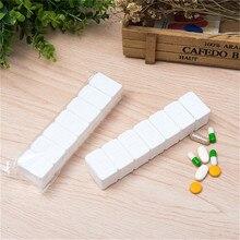 7 Days Pill Case Medicine Storage Tablet Pill Box With Clip Lids Pill Case Splitters Storage Dispenser Weekly Medicine Organizer