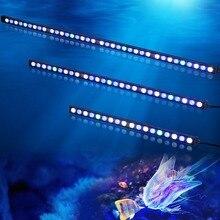 10 pcs/lot 108W IP65 étanche lumière LED daquarium barre bande lampe pour récif corail croissance/plante aquarium organismes marins éclairage