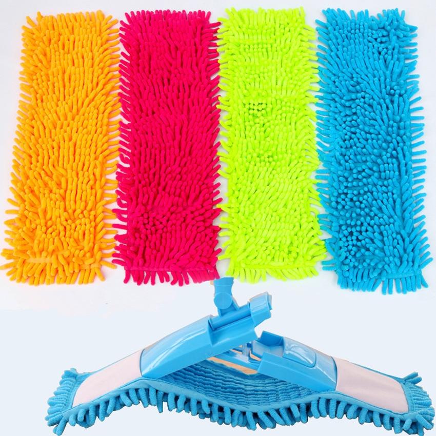 2Pcs 40x12CM Mop Cloth Floor Folding Flat  Head Coral Velvet Chenille Refill Rag Replace Microfibre Fabric cleaning cloth