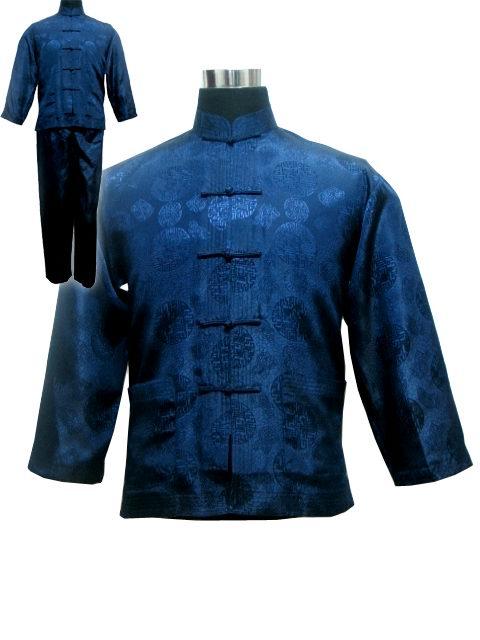 Мужская атласная пижама размера плюс XXXL в китайском стиле, винтажная Пижама на пуговицах, костюм, рубашка и штаны, одежда для сна, одежда для сна с длинными рукавами