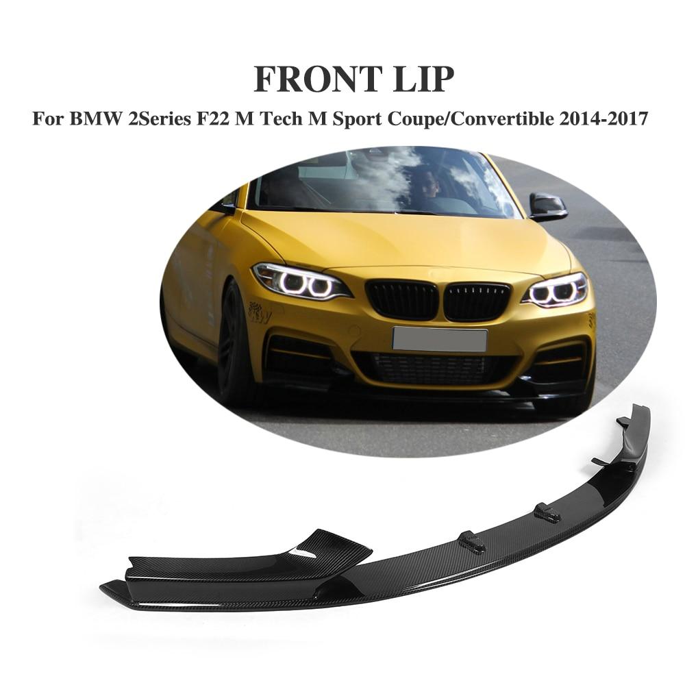 Карбоновый передний бампер, фартук для BMW 2 серии 220i F22 M Tech M Sport купе Convertible 2014-2017