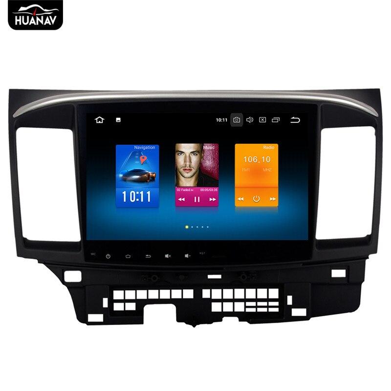 "Android 8 10,1 ""de CD de coche reproductor de DVD de navegación GPS para Mitsubishi Lancer 10 EVO X Galant Fortis 2007-2012 auto estéreo DSP de radio"