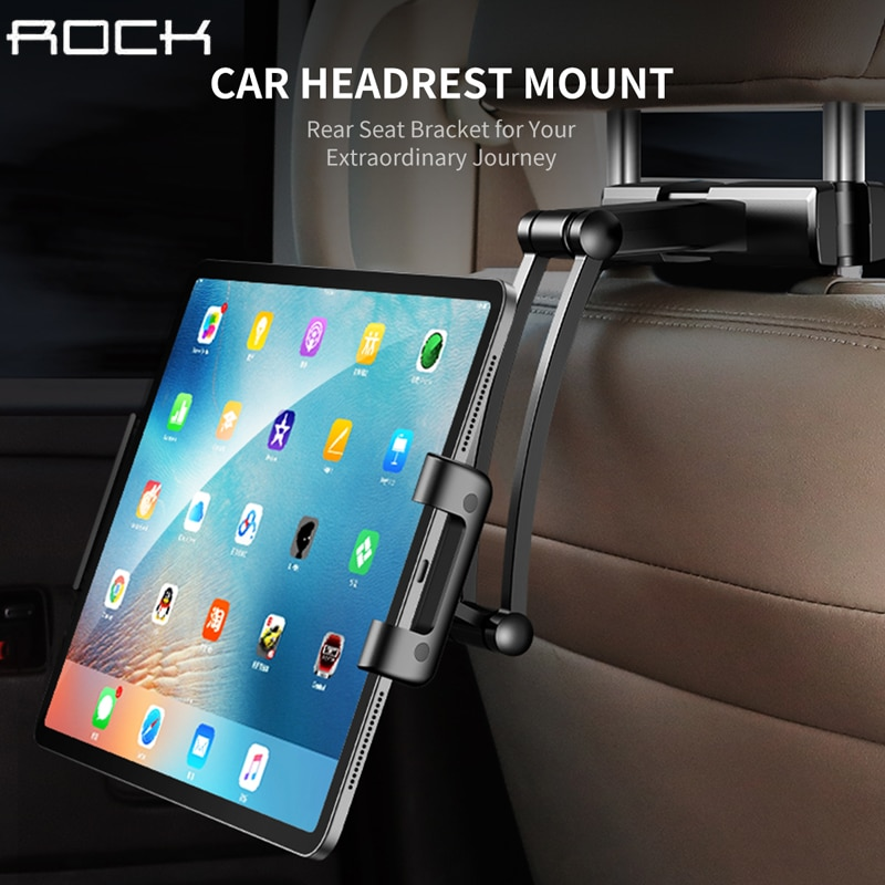 רוק רכב חזרה מושב Tablet Stand משענת ראש הר מחזיק עבור iPad אוויר 2 3 4 5 6 מיני 1 2 3 Tablet PC מחזיקי לxiaomi Huawei Pad