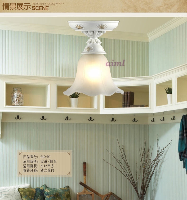 LED European corridor absorb dome light Circular lamp sitting room bedroom balcony porch corridor study hutch lamps  - buy with discount