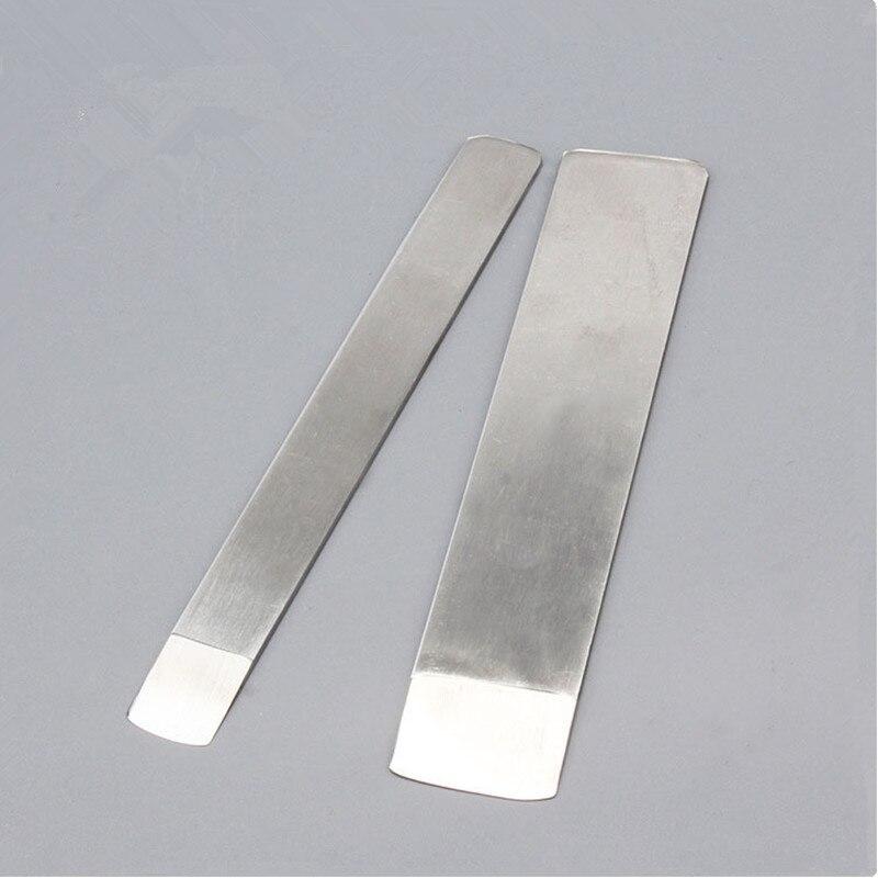 2 pçs/set One-piece faca desbaste corte de couro Feitos À Mão DIY faca pá pá faca fina lâmina de faca de lâmina Redonda cilindro de corte oblíquo
