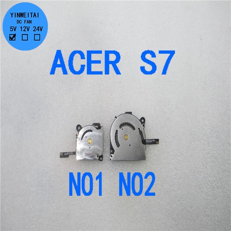 90%NEW CPU GPU for Acer Aspire S7 S7-391 S7-191 S7-392 4006-4A/6718 K126000360F EG50040S1-C171-S99 DC5V 4Pin Laptop Cooling Fan
