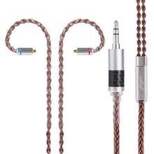 Câble en cuivre étamé Yinyoo 8 noyaux 2.5/3.5/4.4mm câble équilibré avec connecteur MMCX/2pin pour ZS10 ZSA LZ A5 Sony Yinyoo