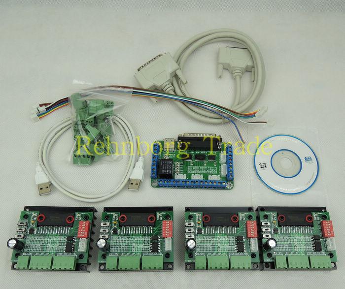 Kit de controlador CNC de 4 ejes, Motor paso a paso TB6560 3.5A mach3 para nema17, motor paso a paso nema23