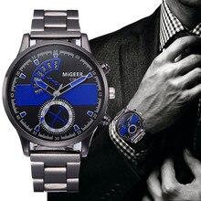 2021 New Business Men Watches Crystal Stainless Steel Bracelet Analog Quartz Wrist Watch relogios ma