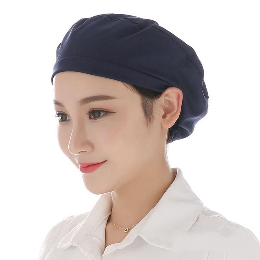Men Women Food Service Caps Breathable Sanitary Dust Cap Workshop Canteen Kitchen Restaurant Hotel Bakery Waiter Chef Work Hats