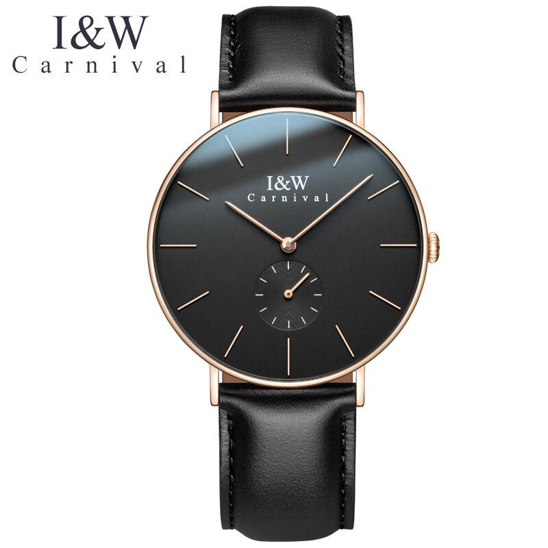 Женские наручные часы, ультратонкие кварцевые часы с швейцарским механизмом, сапфир, натуральная кожа