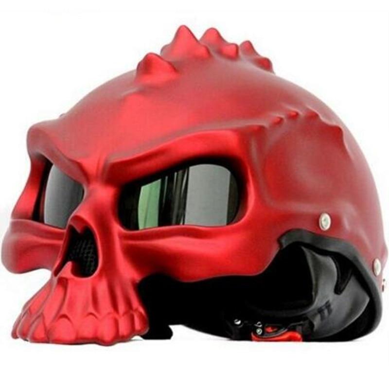 (1 pieza y 11 colores) DOT aprobado Mamei CG489 marca moto media cara Casco de calavera cascos de moto Capacetes Casco Retro Casco